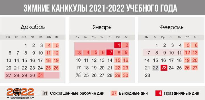 Дополнительные каникулы для 1-х классов в 2021-2022 году