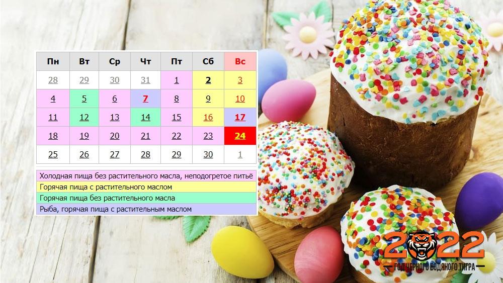 Православный календарь на апрель 2022 года