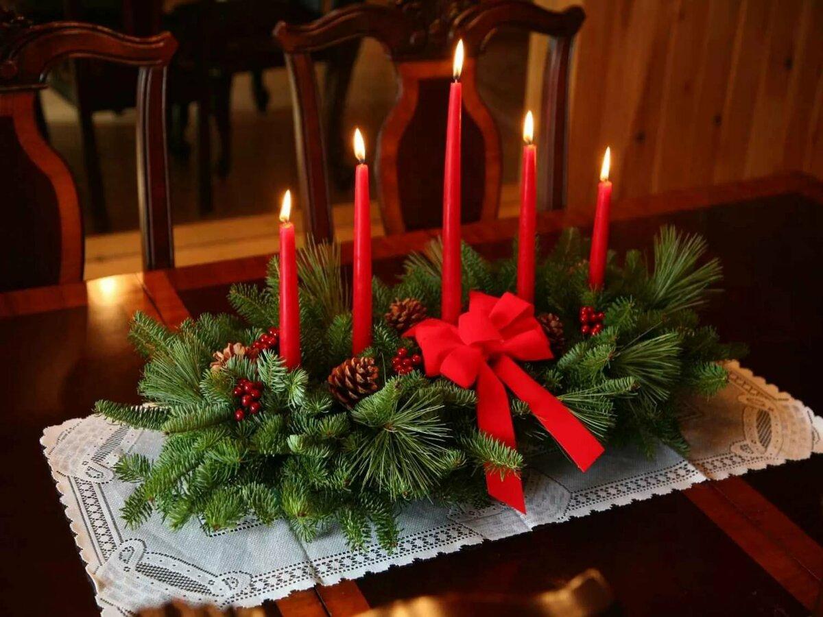 Новогодние композиции на стол