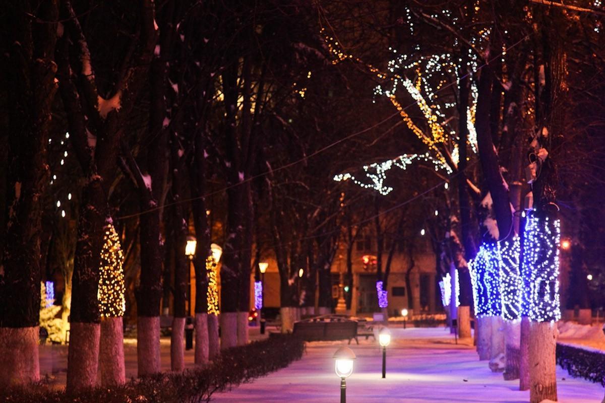 Новогодняя атмосфера в Воронеже