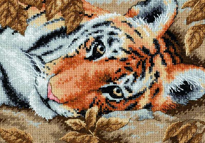 Тигр 2022 крестиком