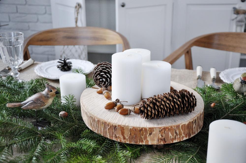 Сервировка стола на Новый год в экостиле