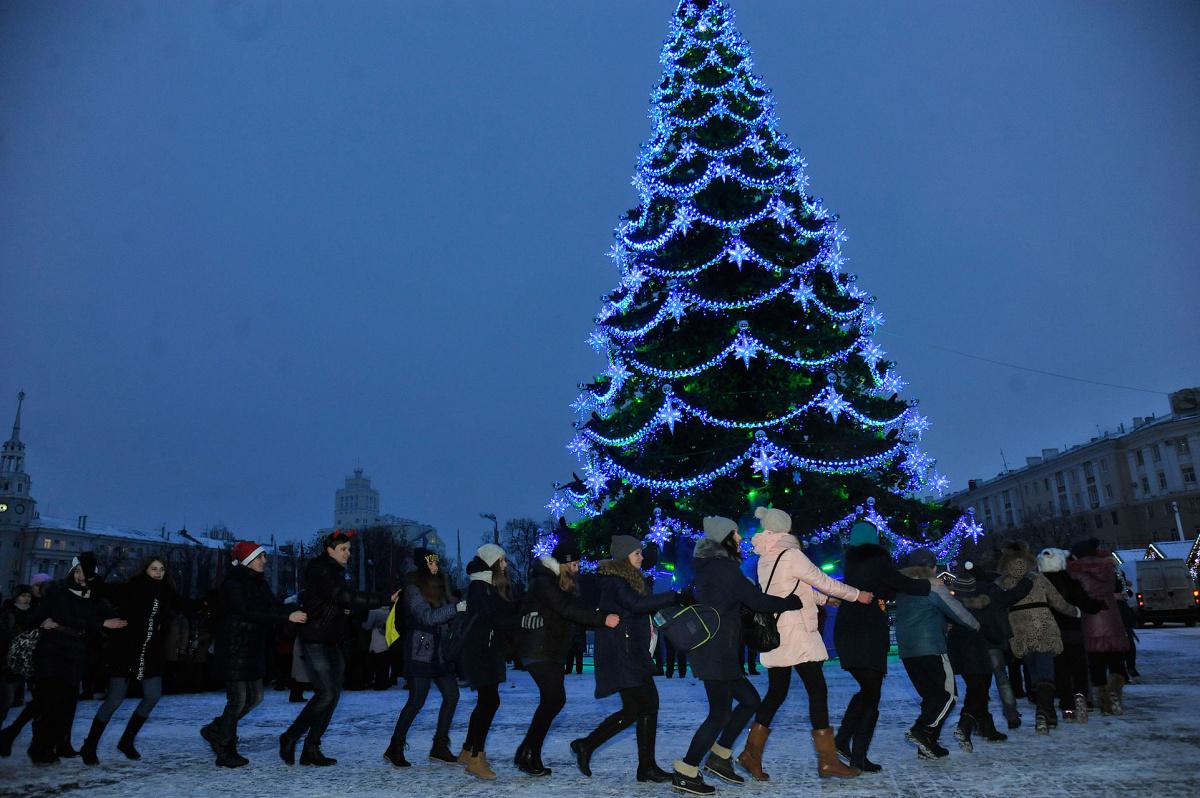 Встреча Нового года в Воронеже