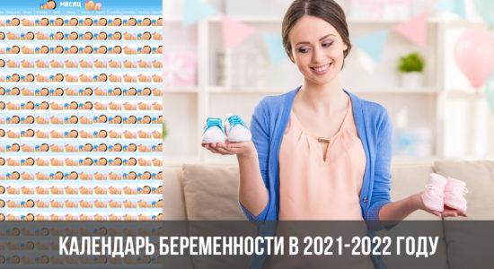 Календарь беременности в 2021-2022 году