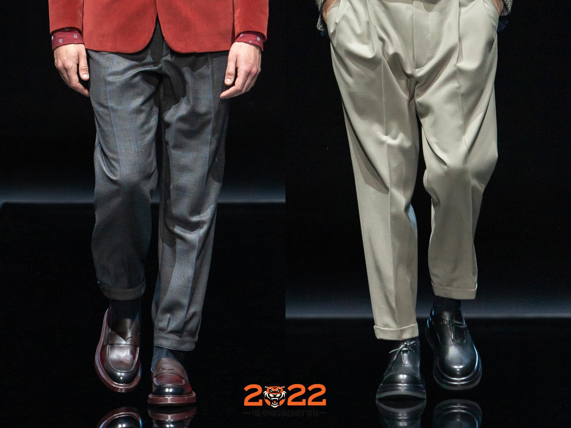 Модная мужская обувь осень-зима 2021-2022 года - туфли с массивной подошвой