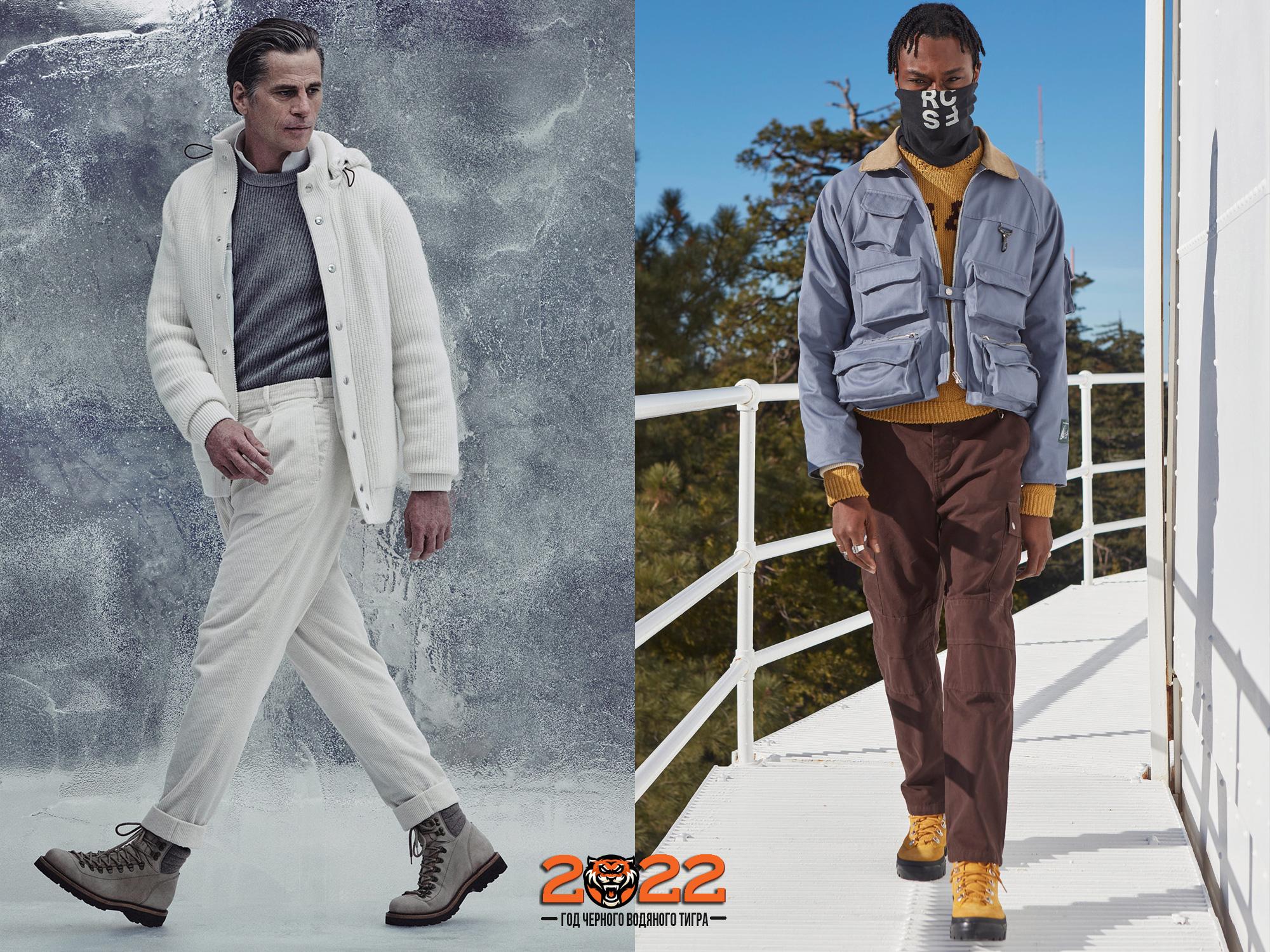 Мужская мода осень-зима 2021-2022 - ботинки на шнуровке