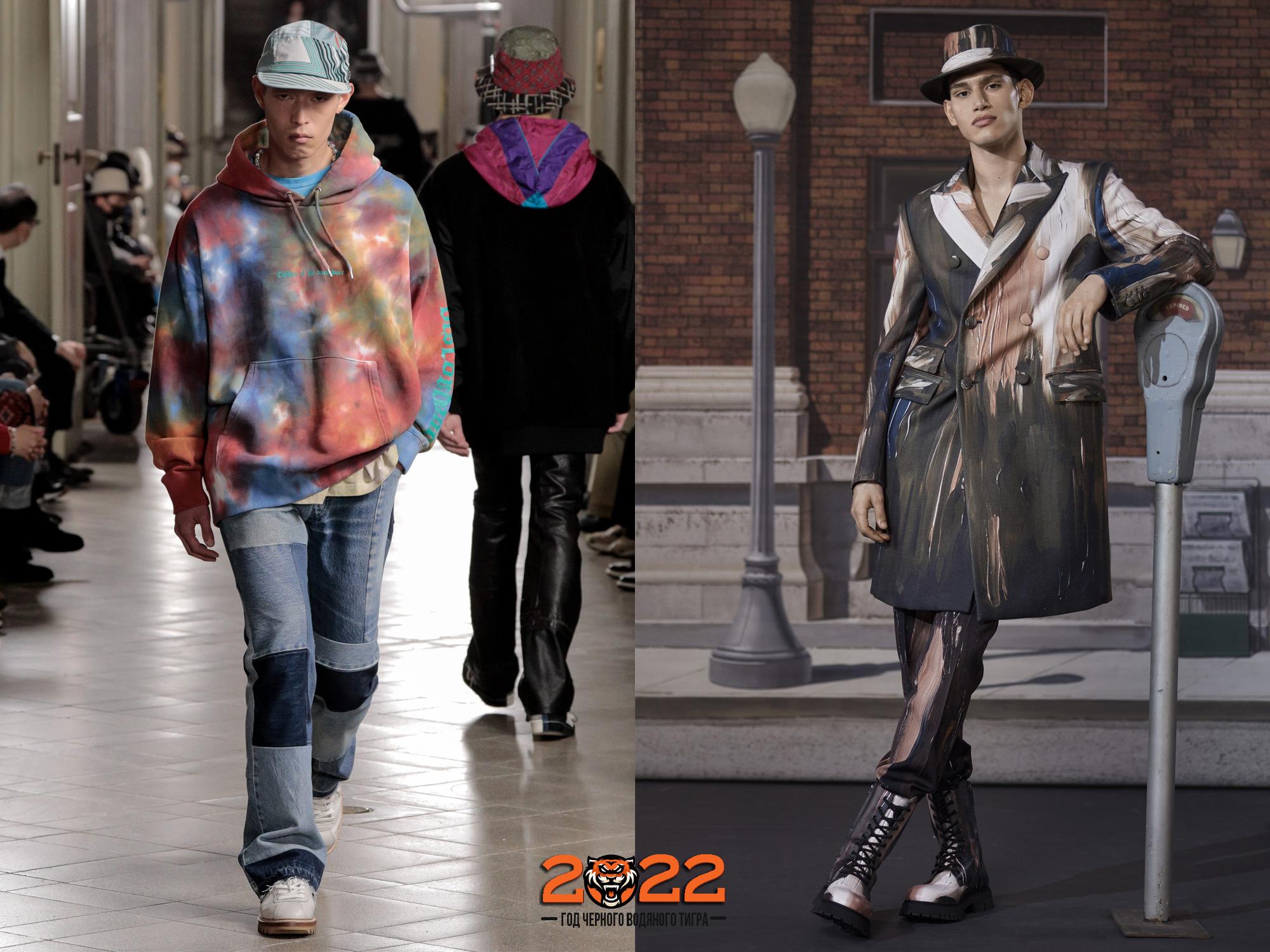 Мужская мода осень-зима 2021-2022 - расцветка акварель