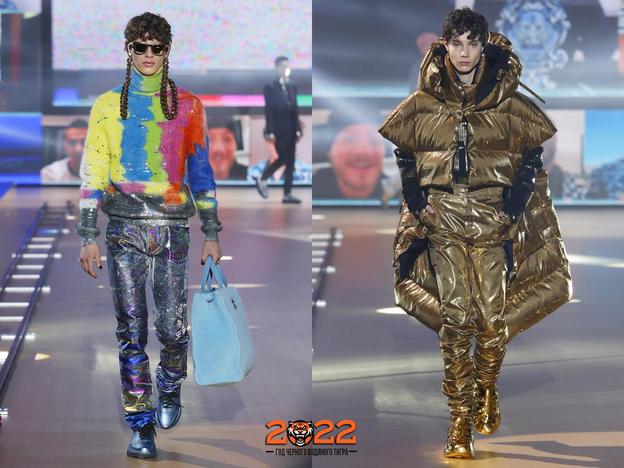 Мужская мода осень-зима 2021-2022 - модный металлик