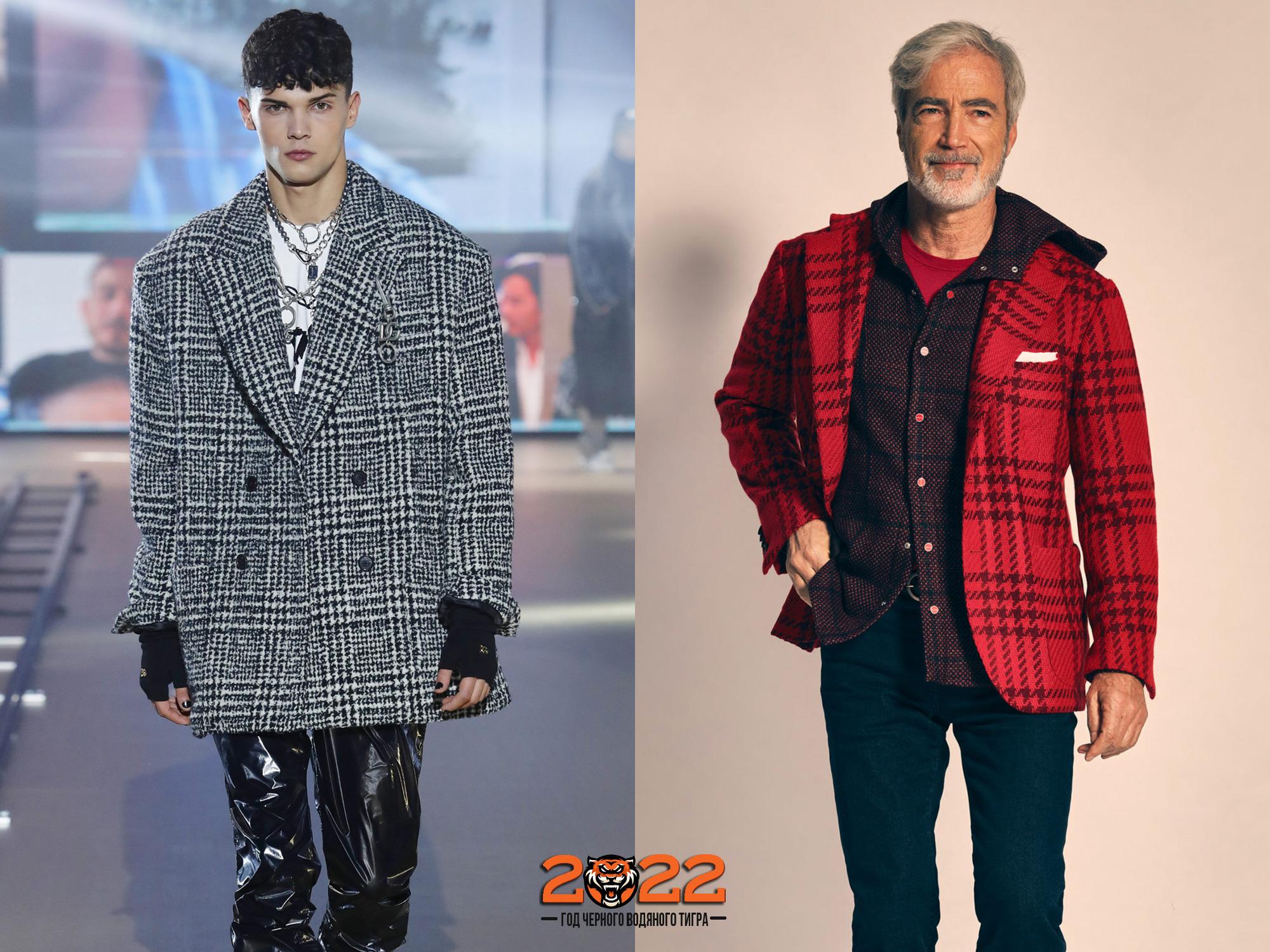 Мужская мода осень-зима 2021-2022 - модная клетка