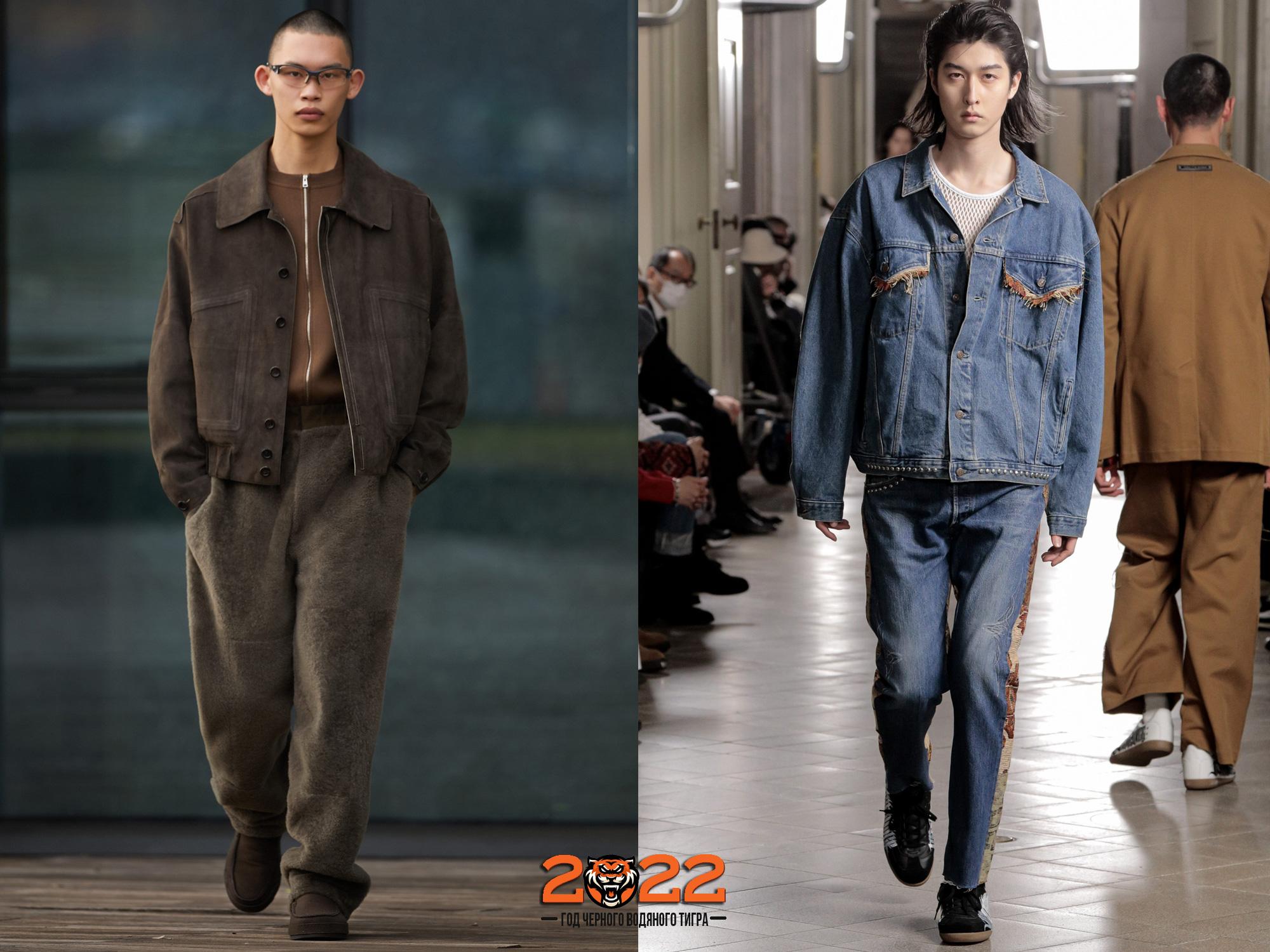 Мужская мода осень-зима 2021-2022 - джинсовые костюмы