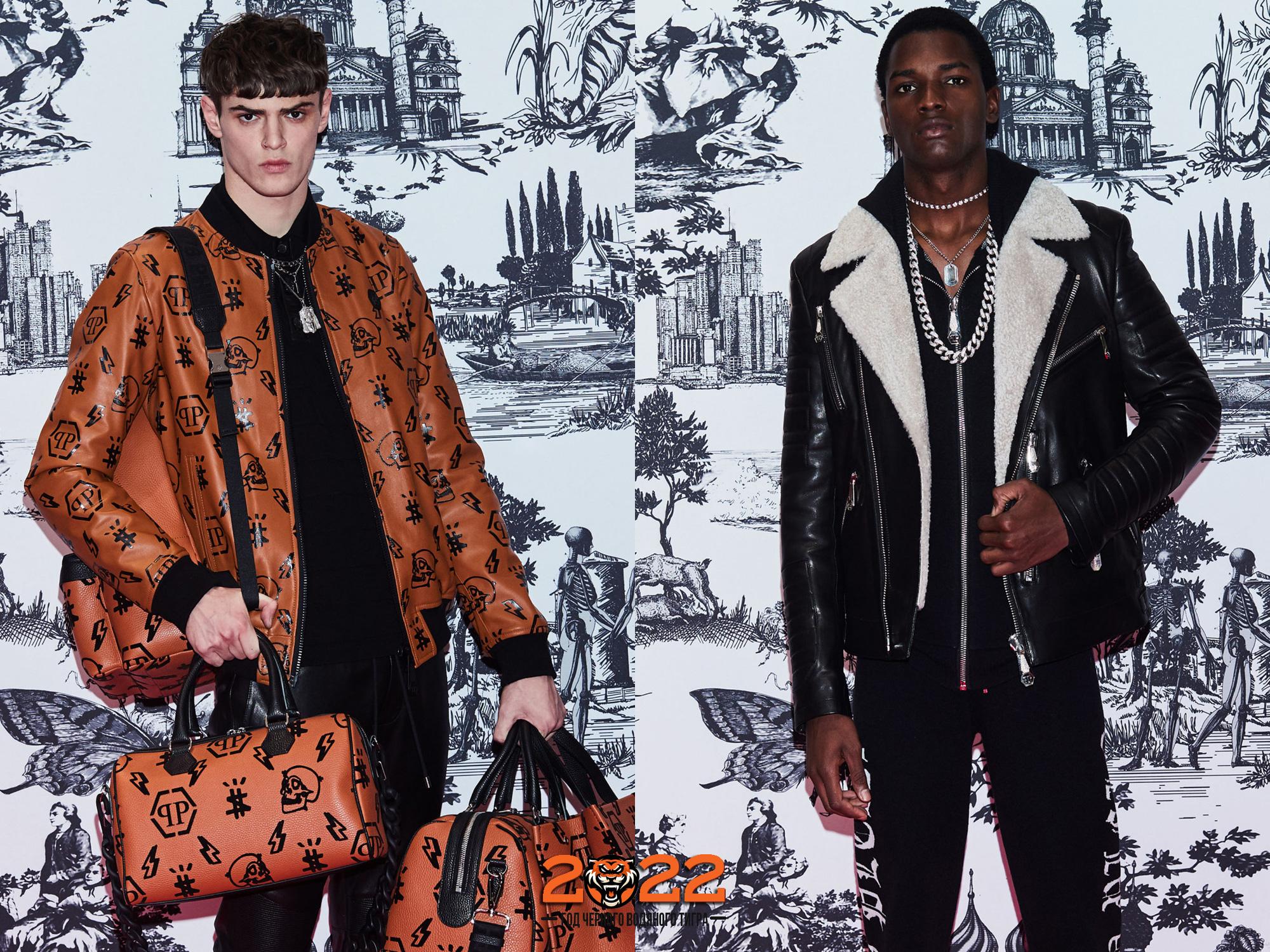 Мужская мода осень-зима 2021-2022 - натуральная кожа