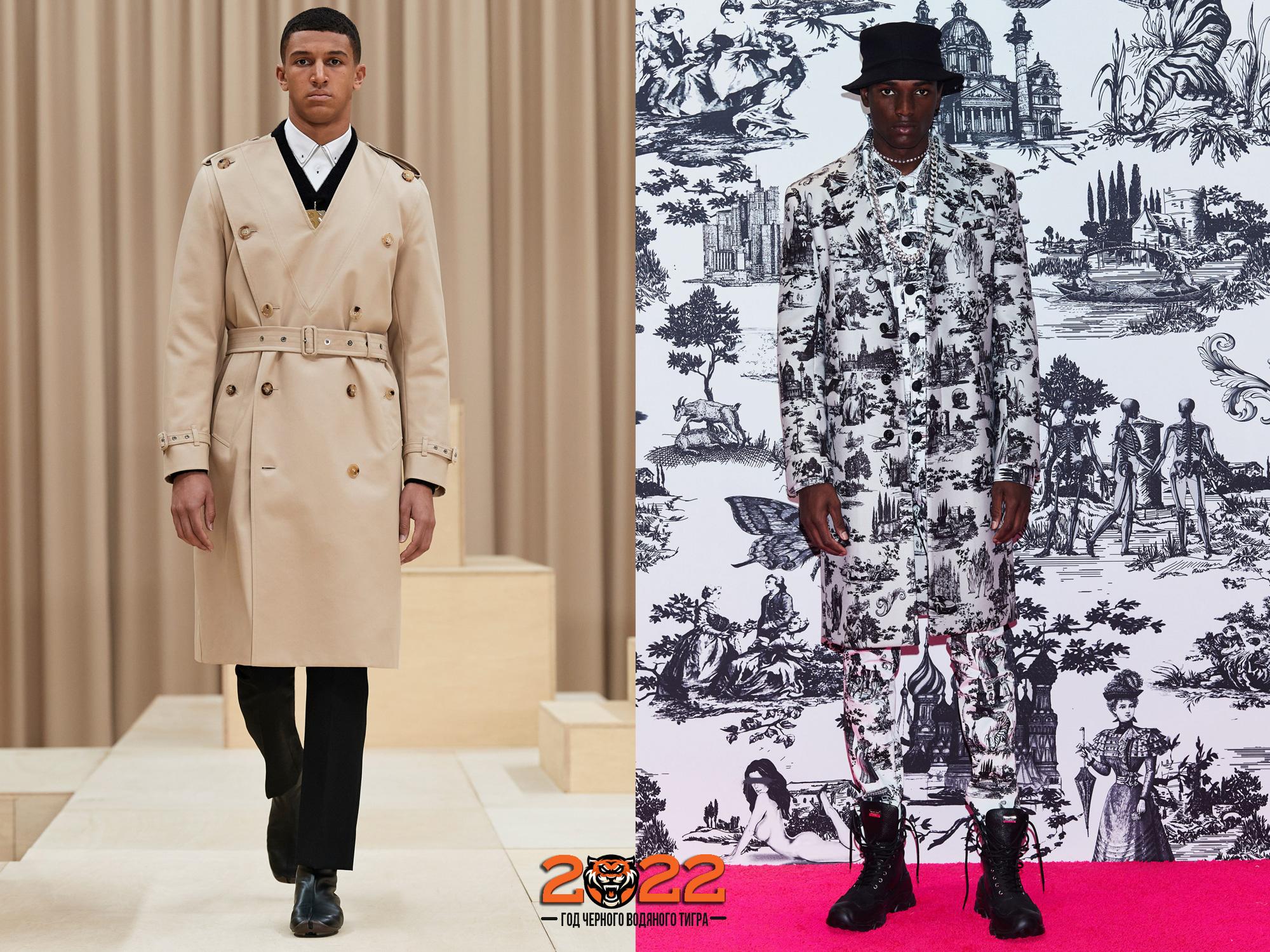 Мужская мода осень-зима 2021-2022 - модные пальто