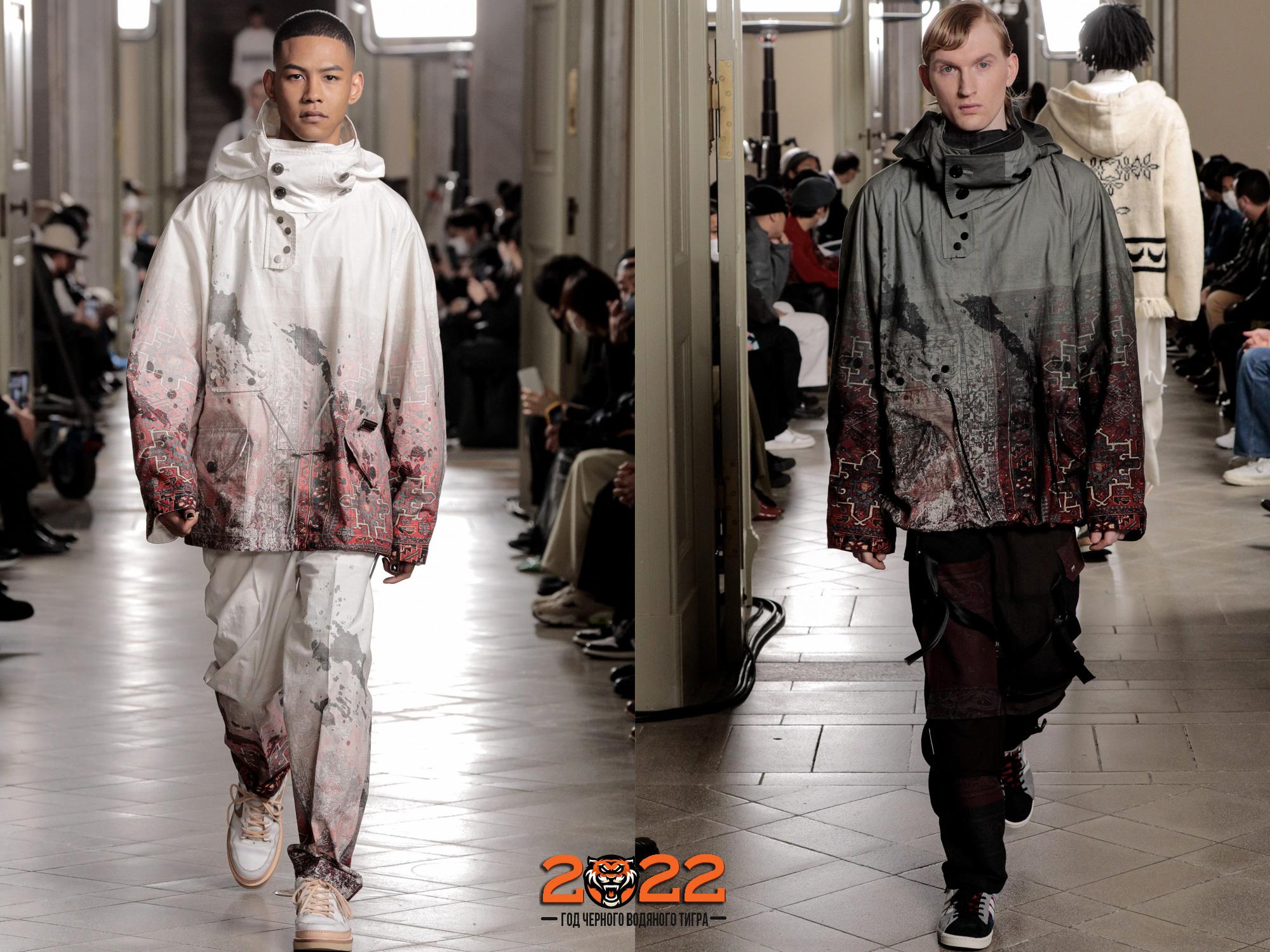 модные мужские куртки анораки с принтами осень-зима 2021-2022
