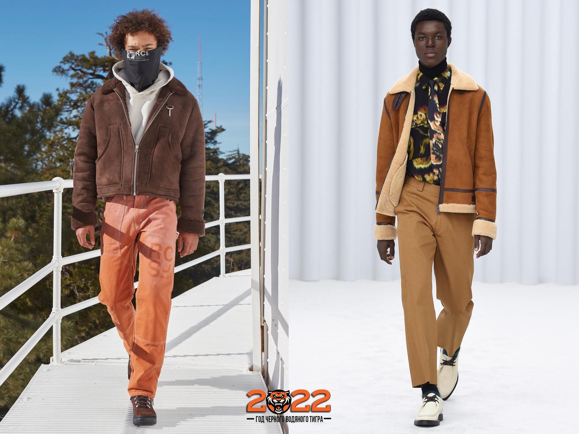 Модная мужская дубленка сезона осень-зима 2021-2022