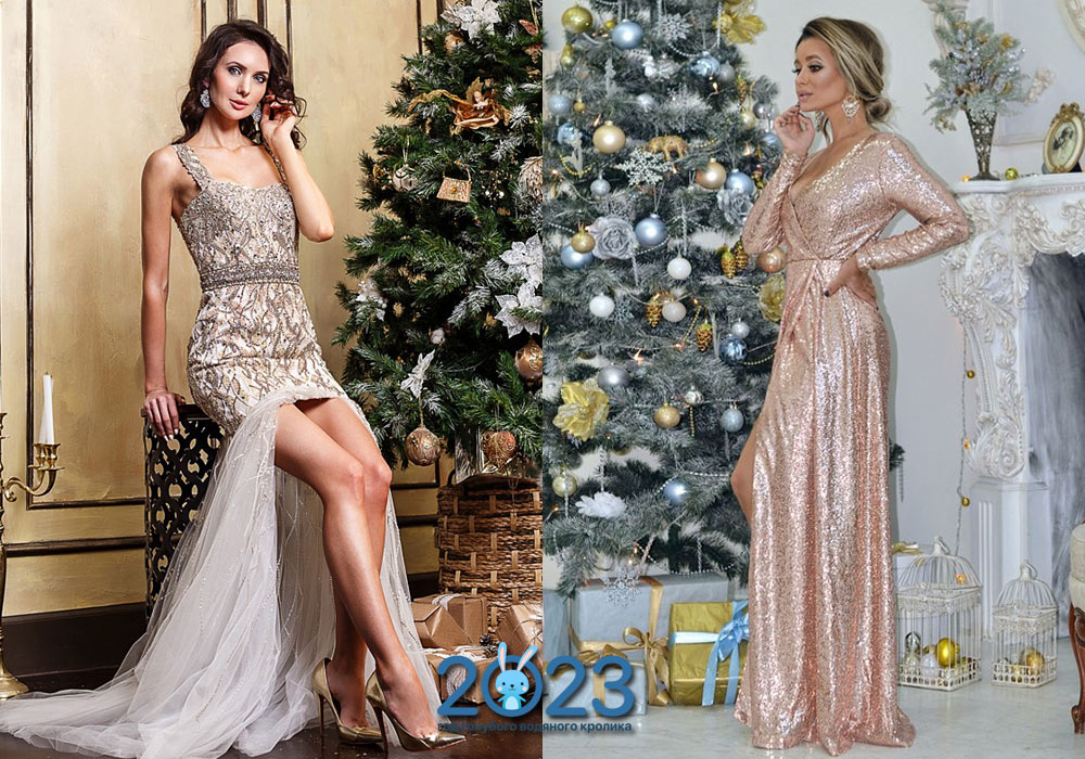 Новогодние платья 2022 года: какое платье надеть на Новый год, фото