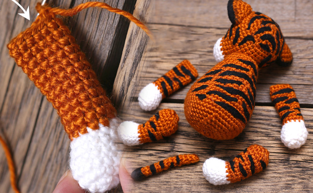 Как вязать крючком Тигра - символ 2022 года