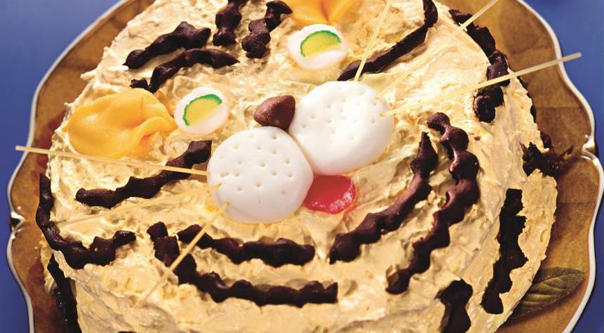 Торт Озорной Тигренок на Новый Год 2022