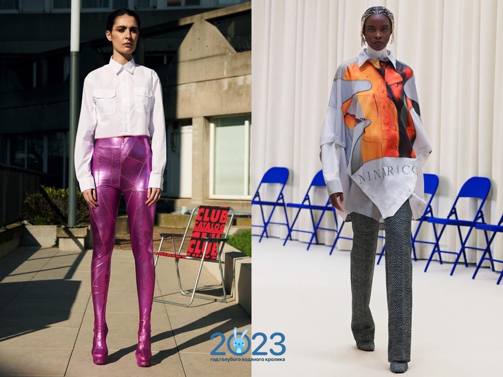 Модные блузки осень-зима 2021-2022: трендовые модели, фото