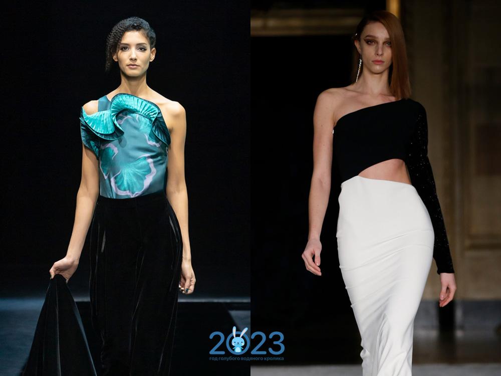 Асимметричные блузы сезона осень-зима 2021-2022