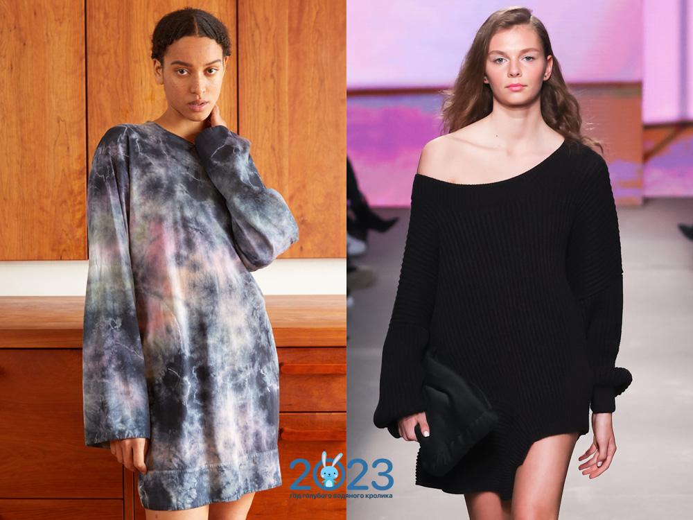 Модные свитера туники осень-зима 2021-2022