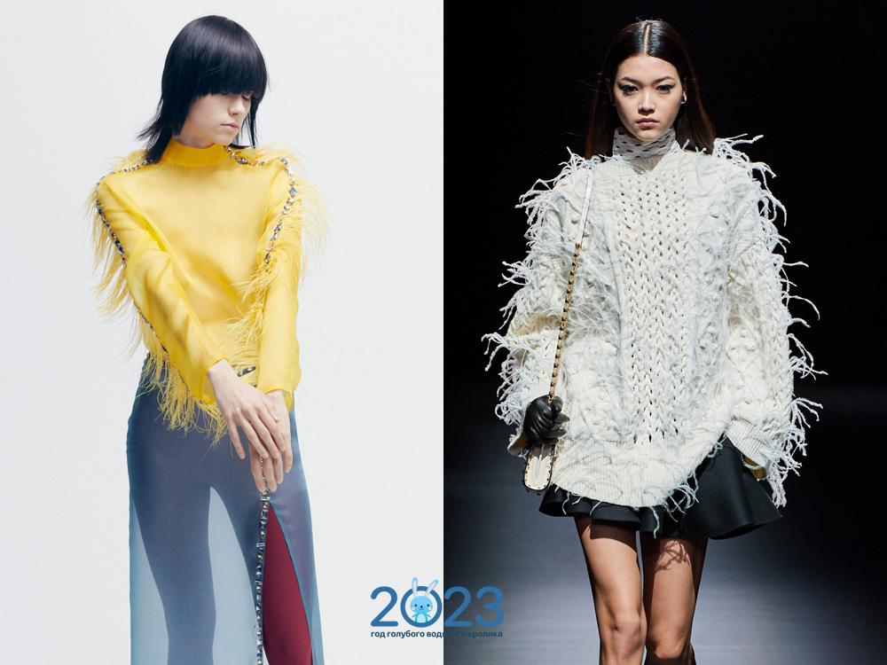 Модные свитера с бахромой осень-зима 2021-2022