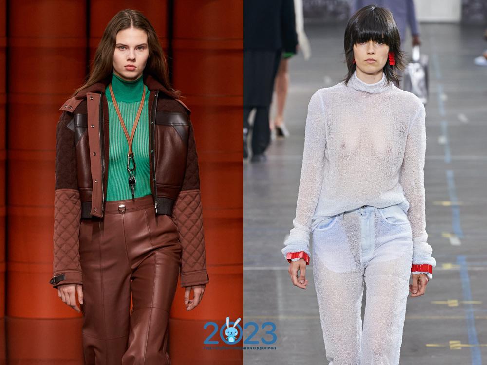 Прозрачный свитер - тренд сезона осень-зима 2021-2022