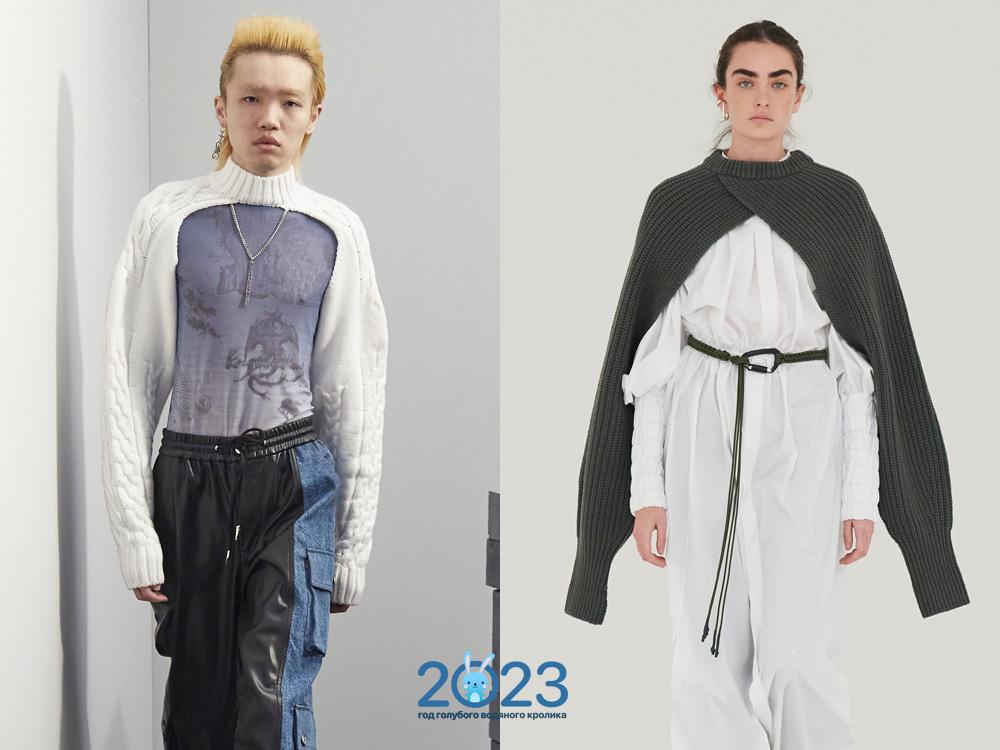Модный свитер-рукав осень-зима 2021-2022