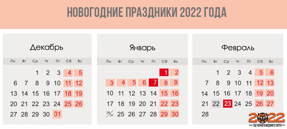 Новогодние каникулы 2022 года - когда выходить на работу