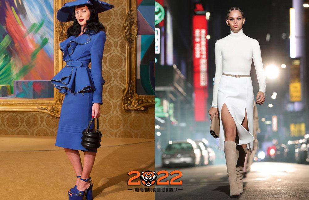 Юбка-карандаш - базовый гардероб модницы в 2022 году