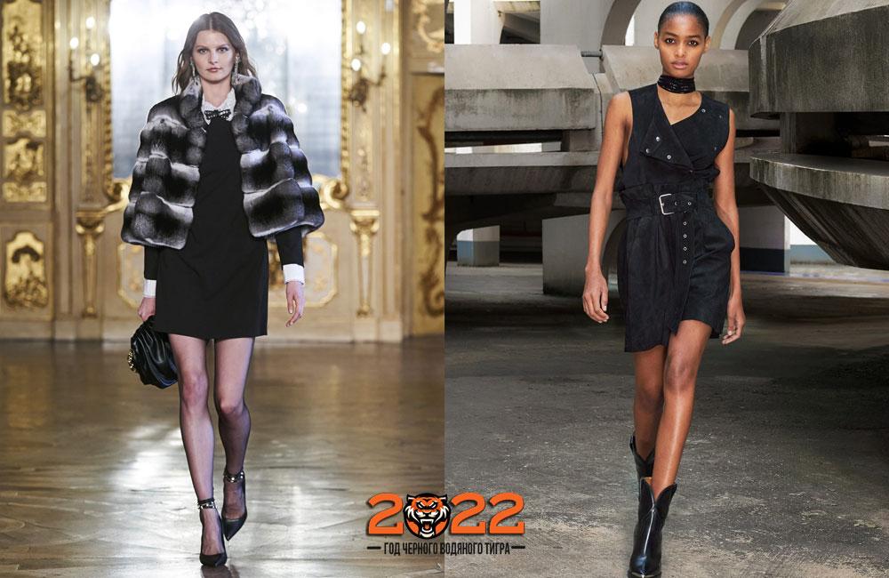 Черное платье - базовый гардероб на 2022 год