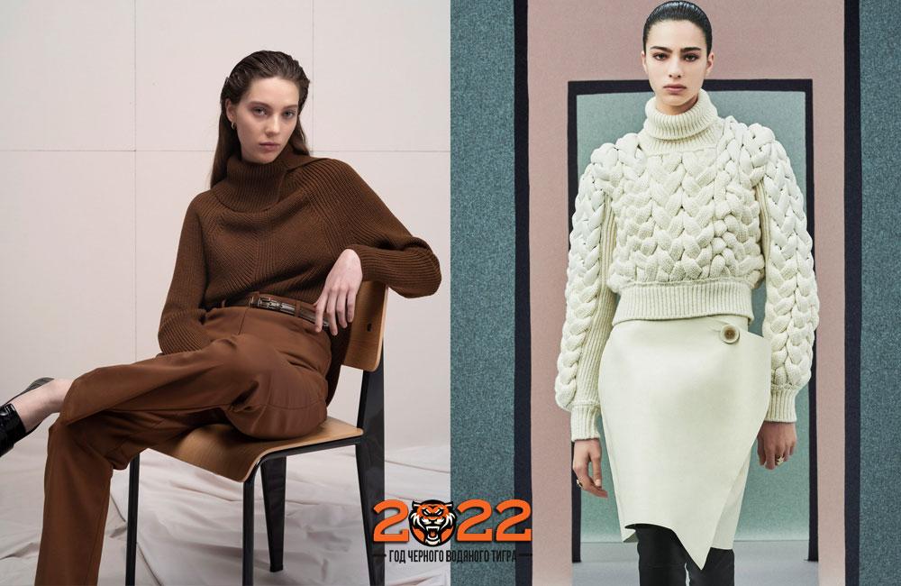 Модный свитер - базовый гардероб на 2022 год
