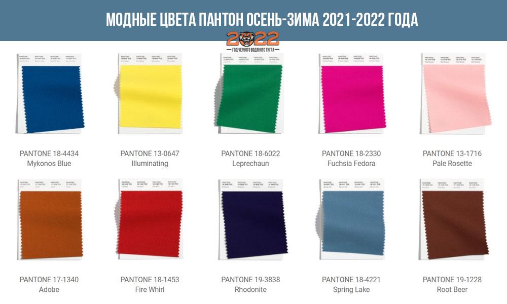 ТОП-10 основных цветов Пантон сезона осень-зима 2021-2022 года