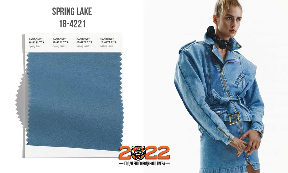 Spring Lake - модный оттенок палитры Пантон сезона осень-зима 2021-2022
