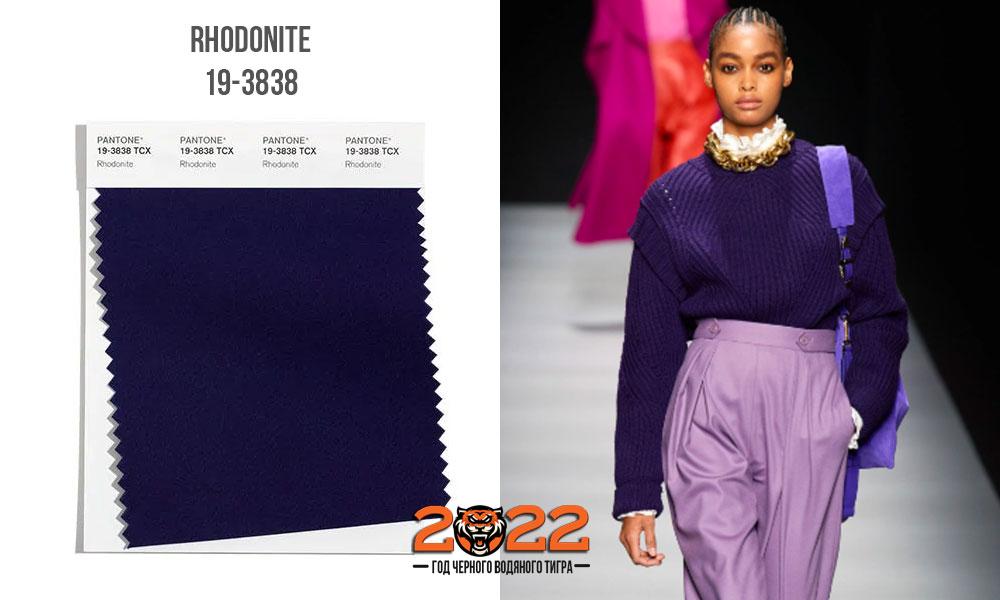Rhodonite / фиолетовый родонит - модный оттенок палитры Пантон сезона осень-зима 2021-2022