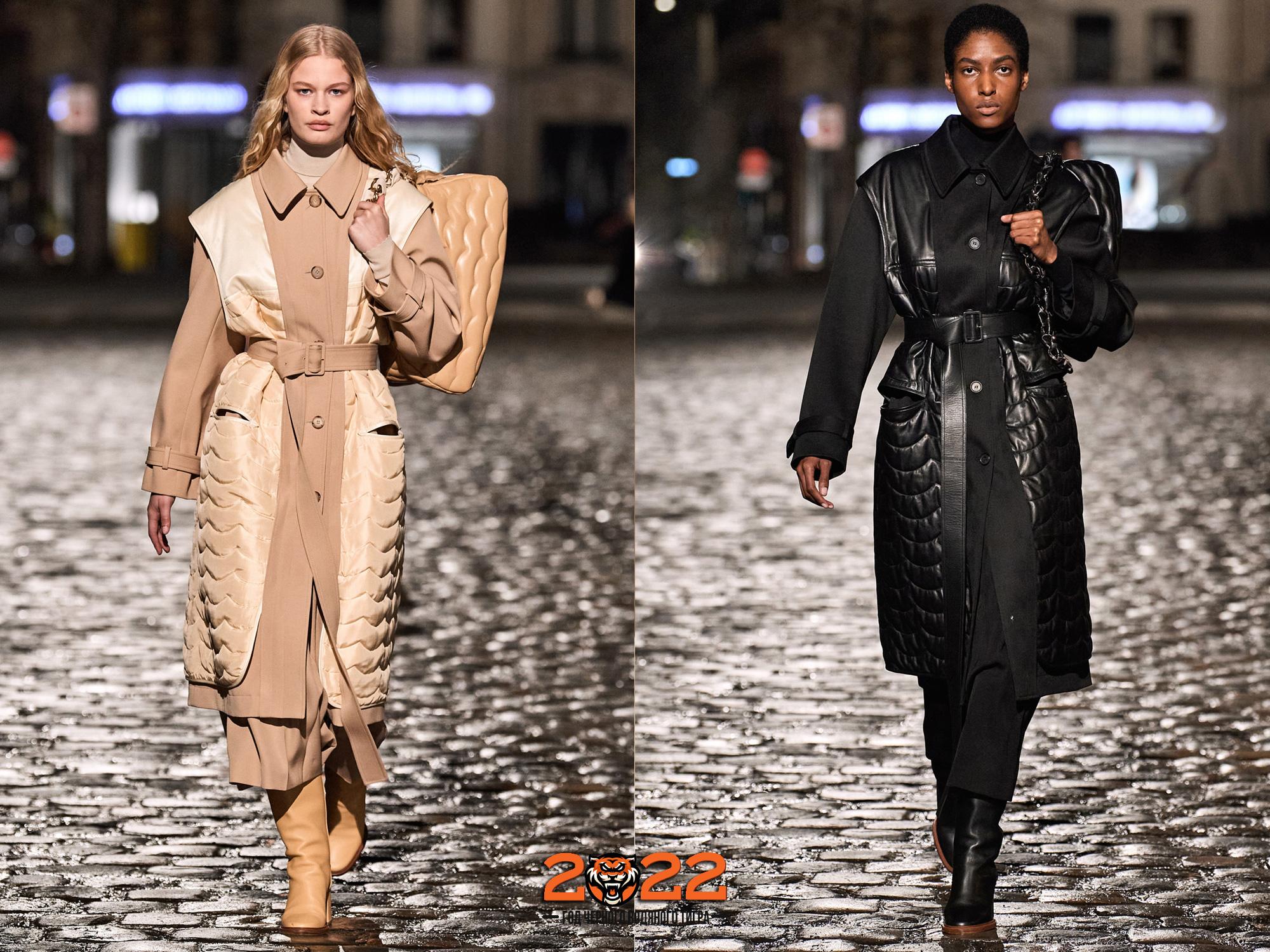 Стеганые пальто осень-зима 2021-2022