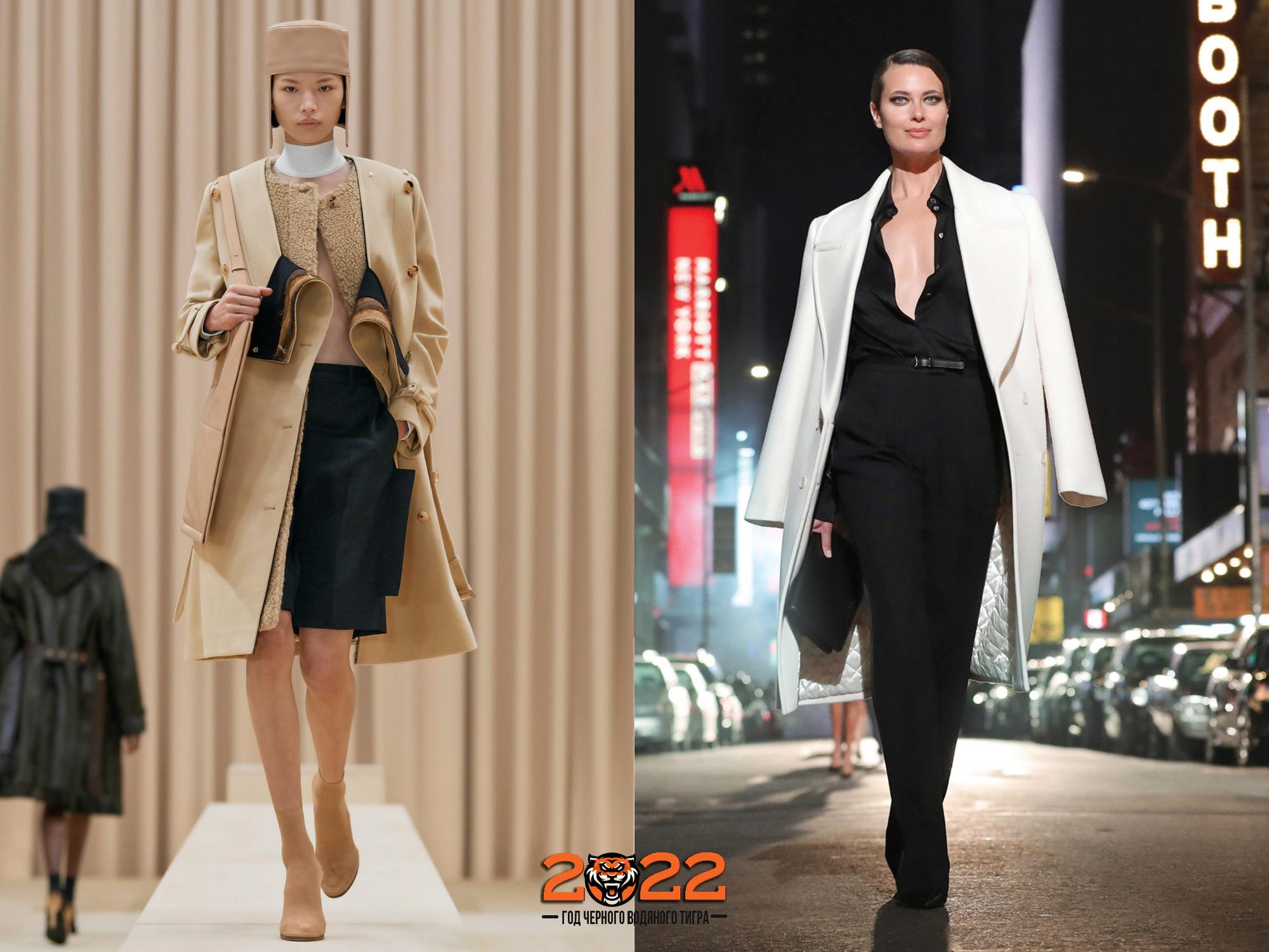 Модные оттенки пальто сезона осень-зима 2021-2022 года