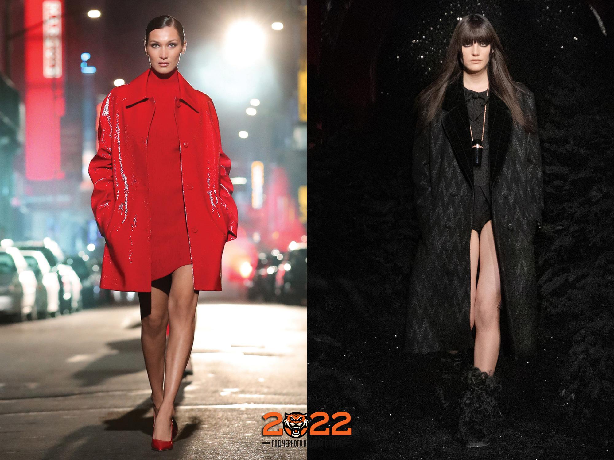 Модные оттенки пальто на 2022 год