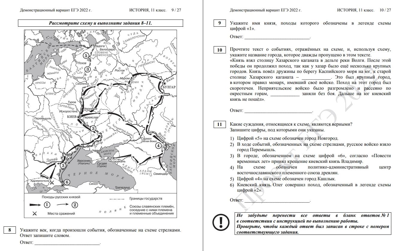 Структура КИМов и особенности заданий в новом ЕГЄ 2022 по истории