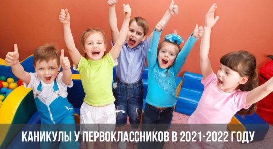 Каникулы у первоклассников в 2021-2022 году