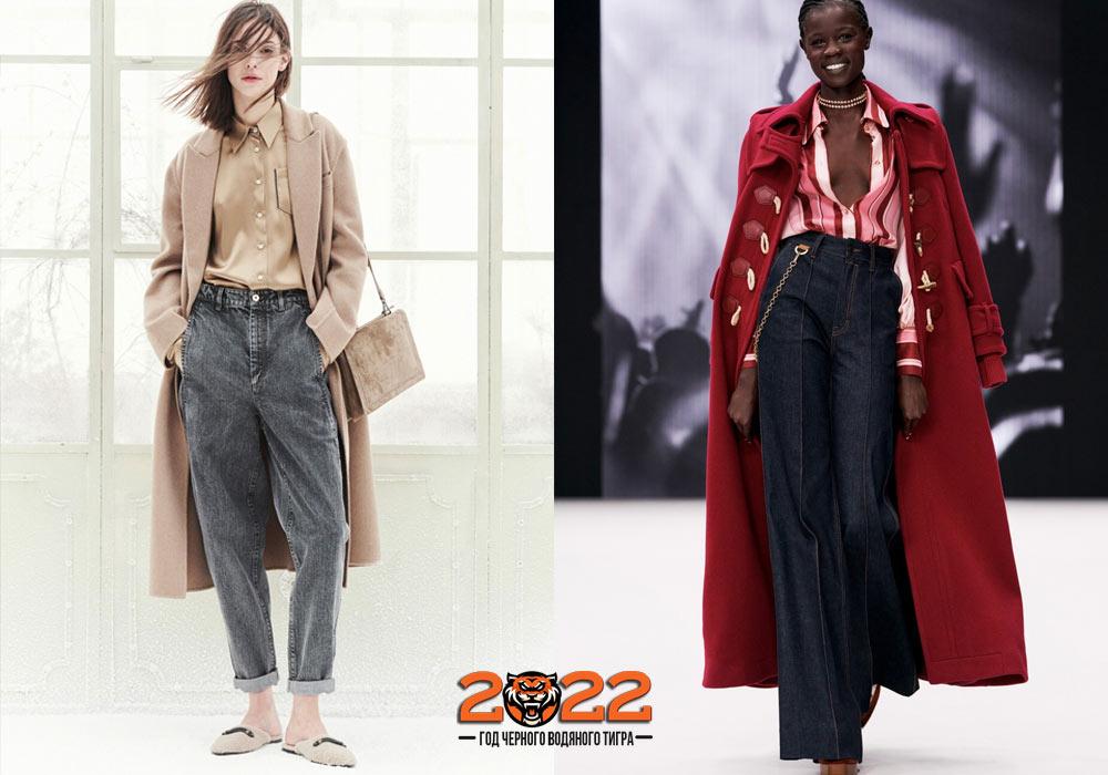 Модные джинсы на зиму 2021-2022 года