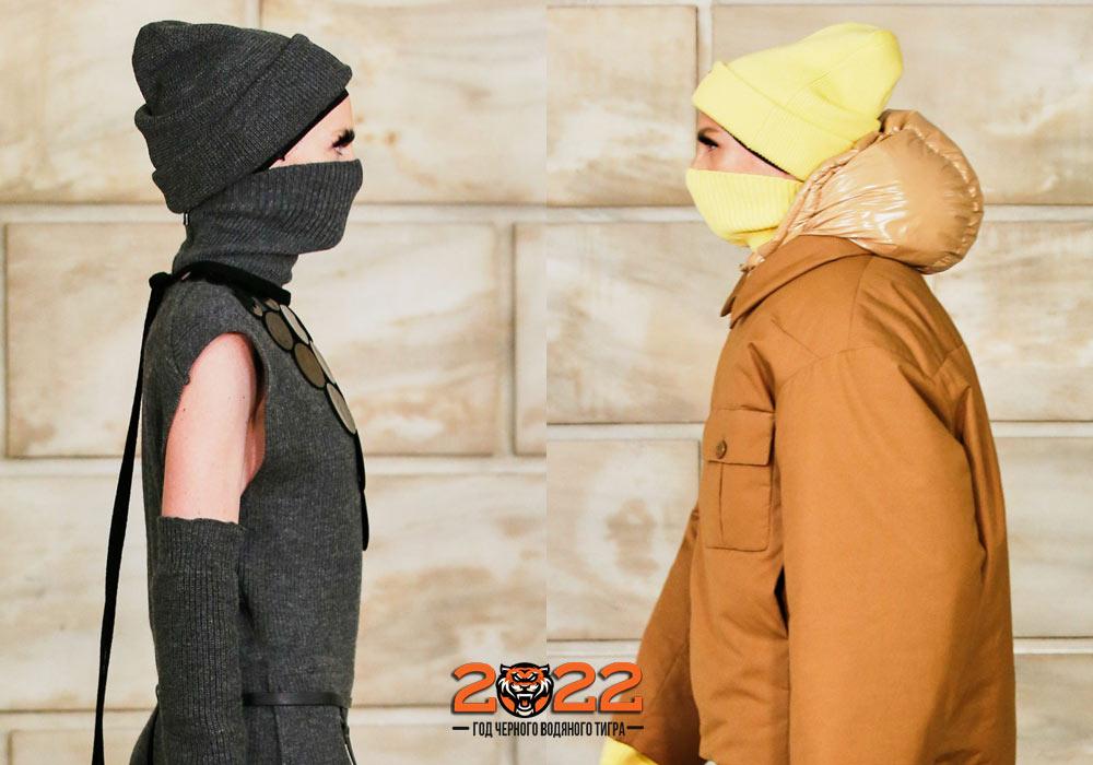 Вязаные шапки сезона осень-зима 2021-2022
