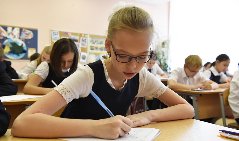 Девочка на экзамене