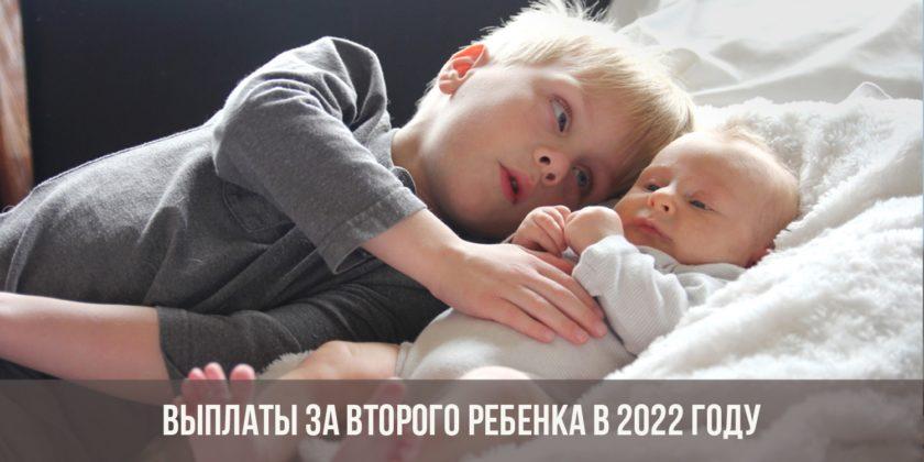 Выплаты за второго ребенка в 2022 году